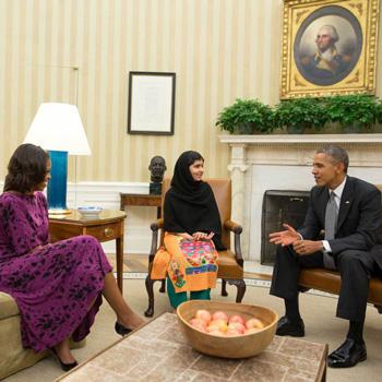 Malala with Obama