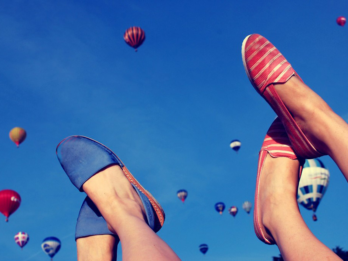 Shoes on a background of Balloon Fiesta