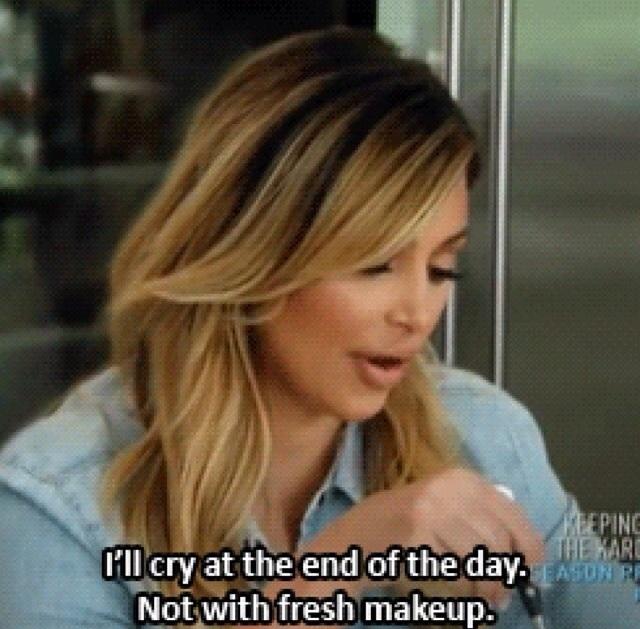 Kim K being sassy.