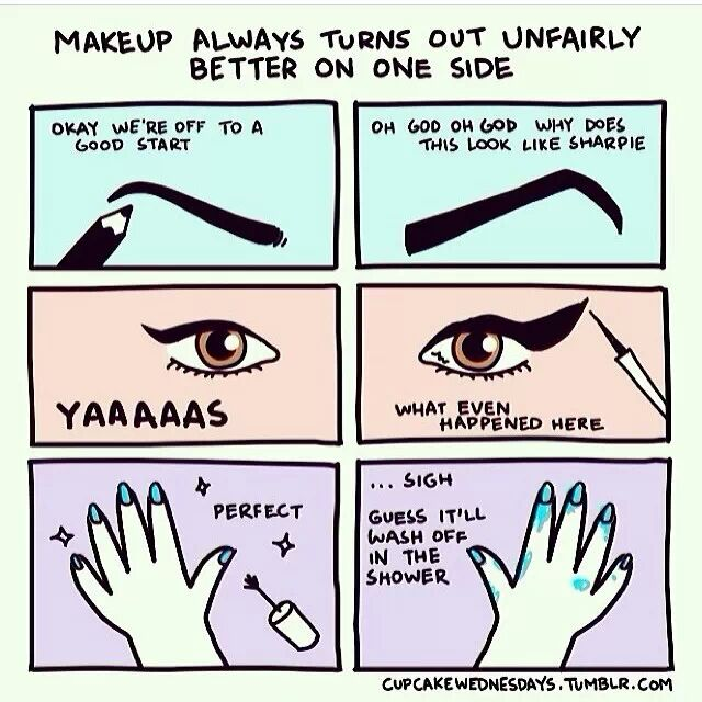 Makeup is only good on one side