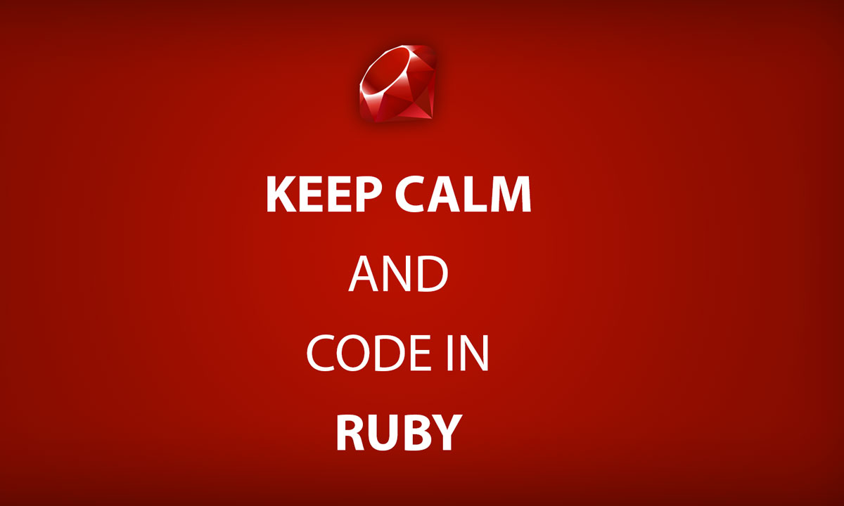 Keep Calm and Code in Ruby Graphic
