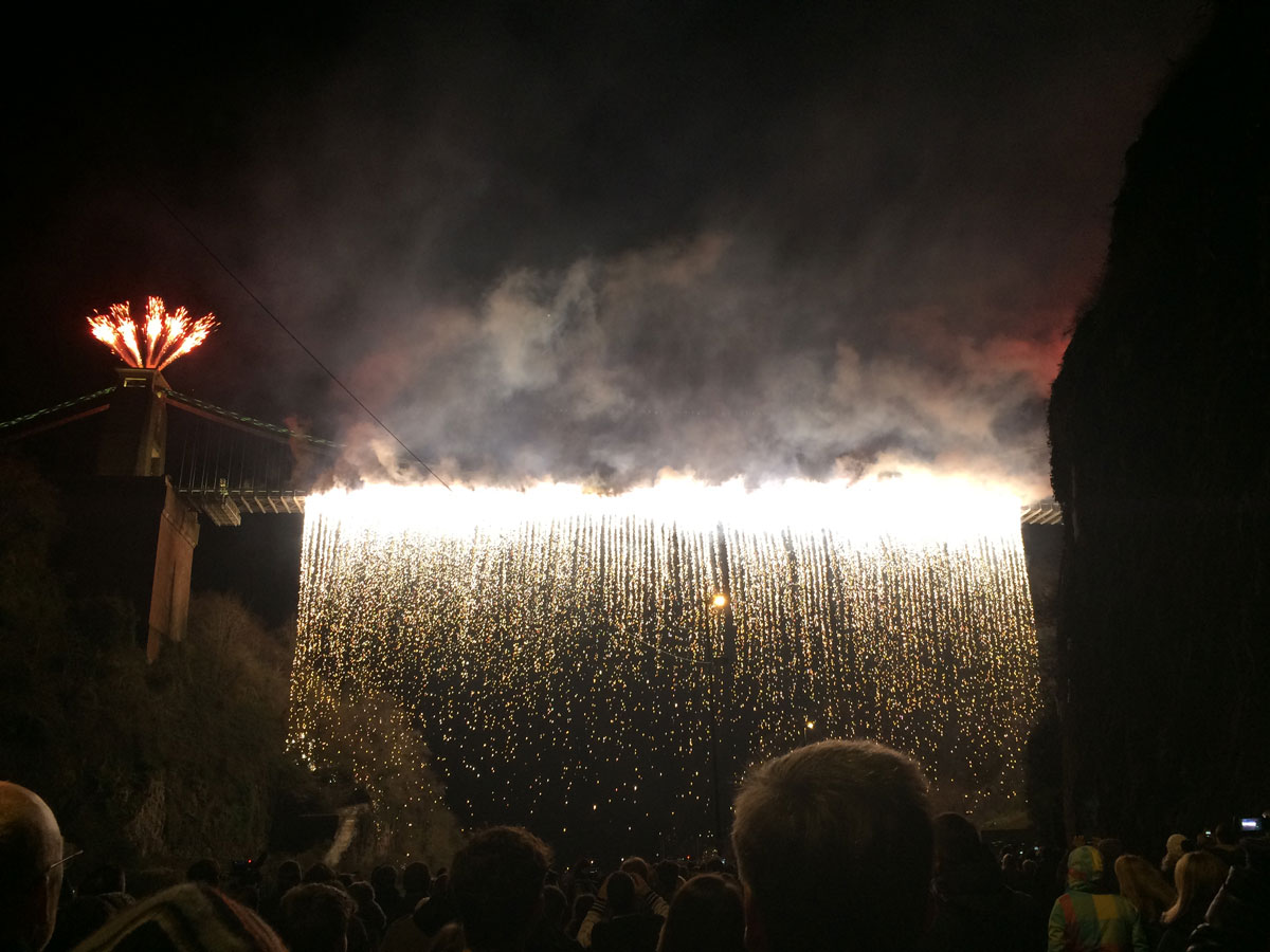 Fireworks on the Clifton Suspension Bridge