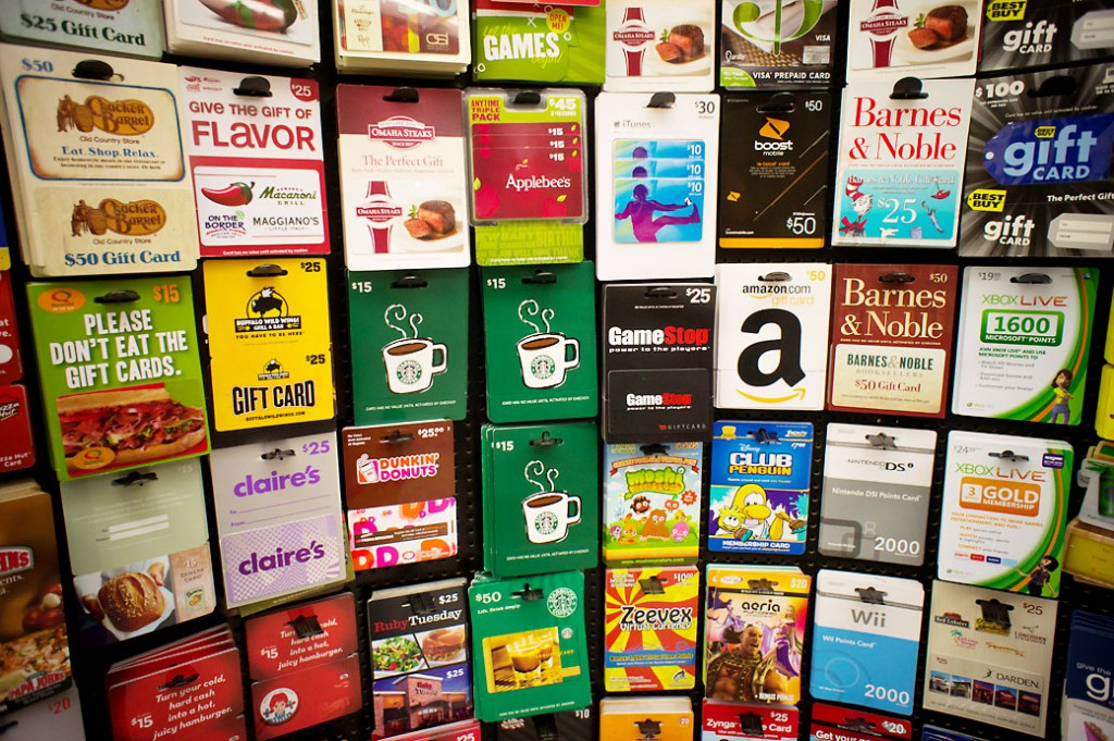 A selection of GiftCards