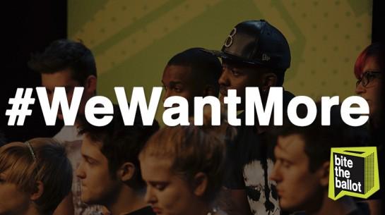 #wewantmore