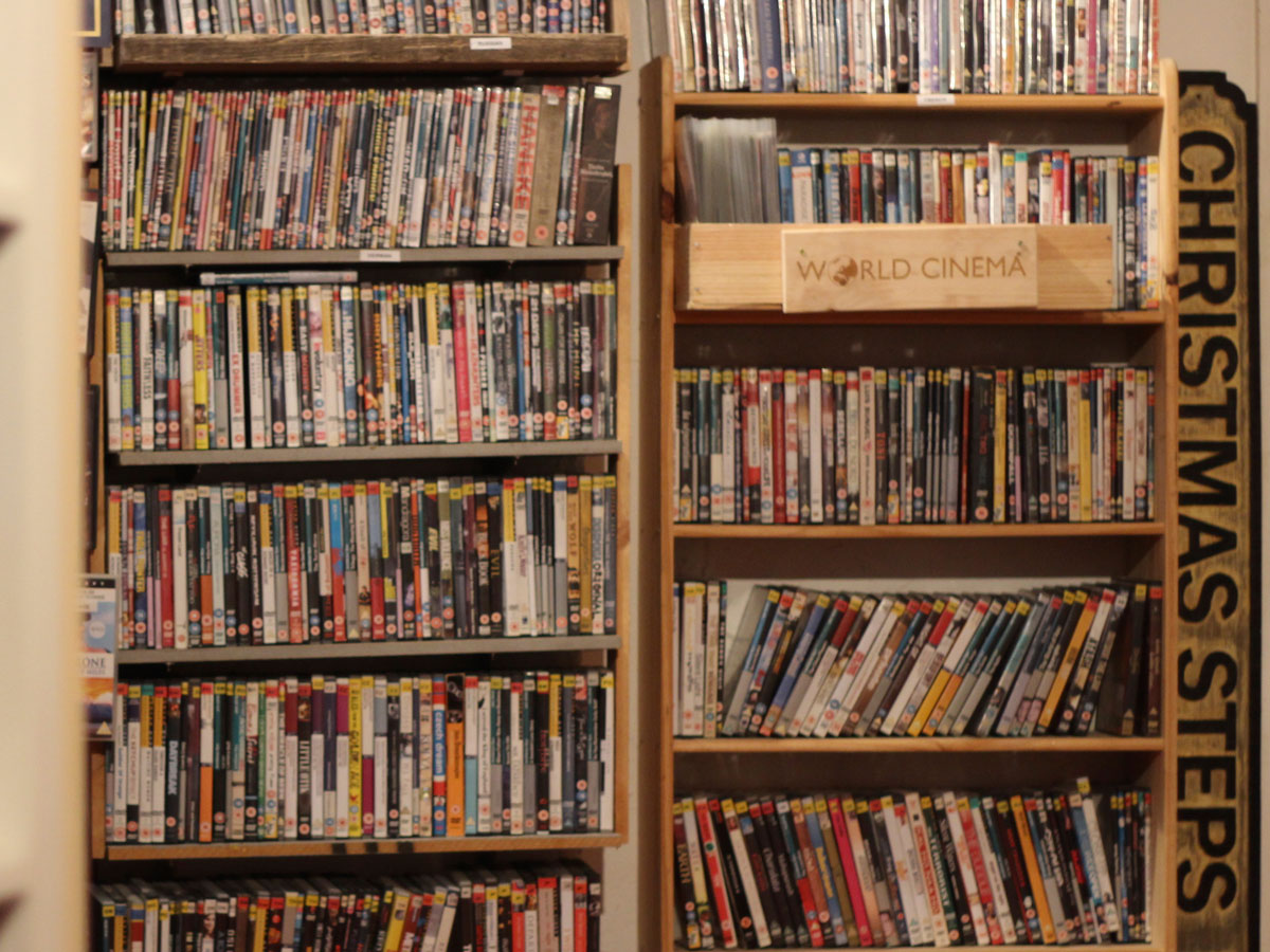 Shelves full of DVDs in 20th Century Flicks