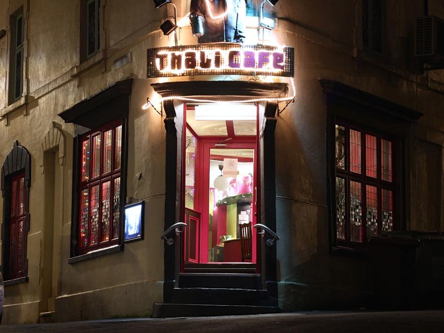 Thali Cafe at night