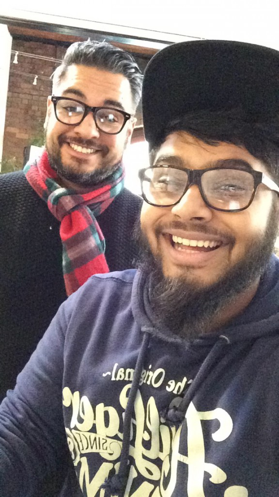 young journalist Sham and Rife editor Nikesh
