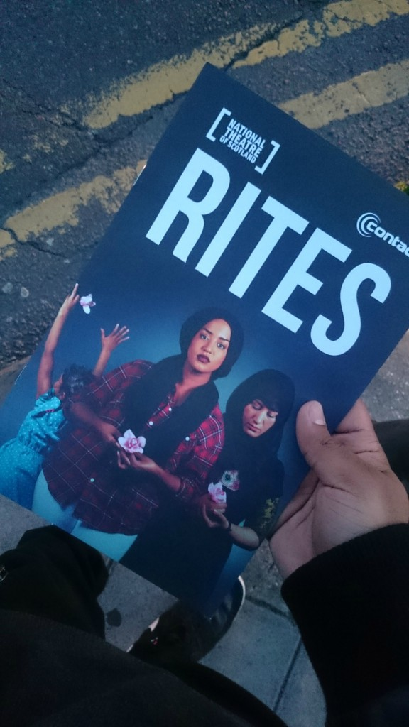 the cover of the play rites