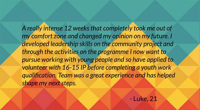 Luke, 21, Prince's Trust  Programme Participant