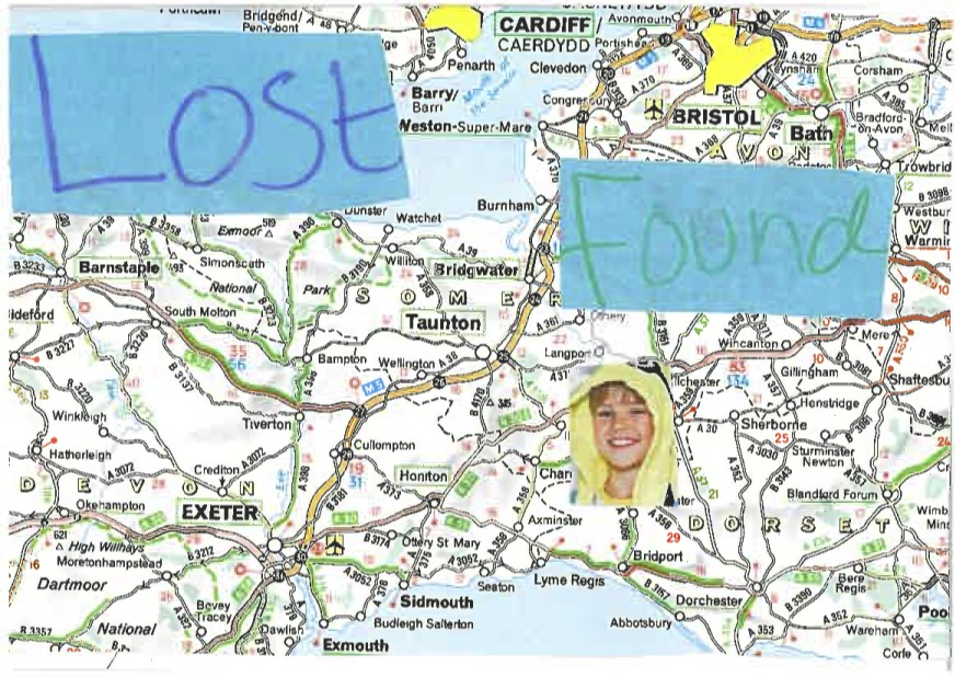 Simone's 'Lost and Found' Postcard