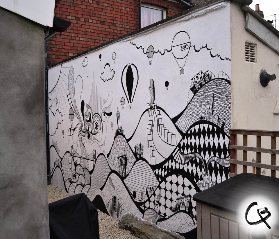 My year in illustrations murals and everything black and for Black white mural