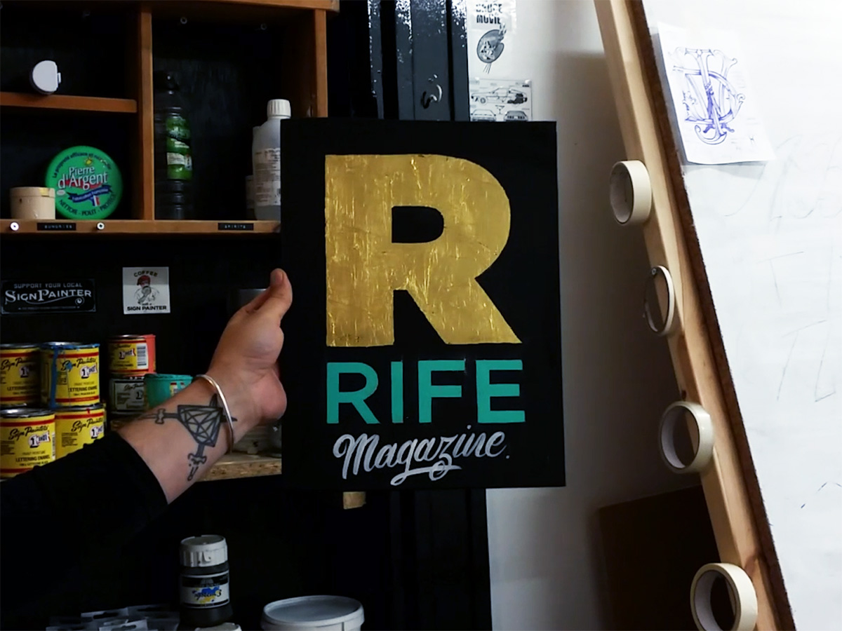 Is Sign Writing A Dying Art Or Has It Been Reincarnated Into Its Own Artform Cai Chatted To Bruce Crowes Painter With Love For Brushes