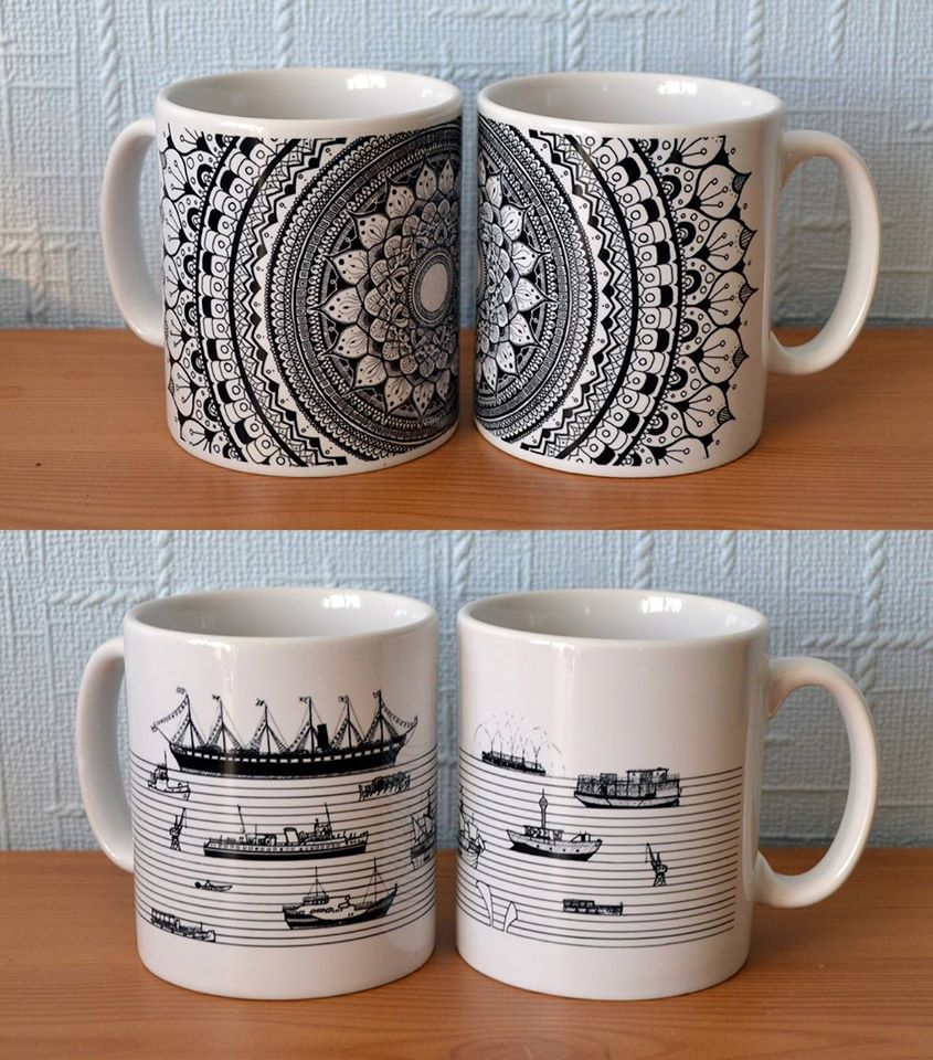 I decided to try making mugs based off some designs I had created.