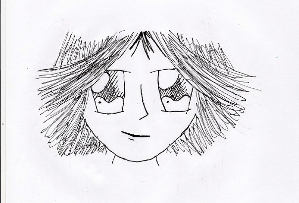 The first drawing I posted online - it didn't take me to internet heights. Perhaps it's because the drawing isn't great, or perhaps it's because I spelt drawing as drawring. *SIGH* 2008.