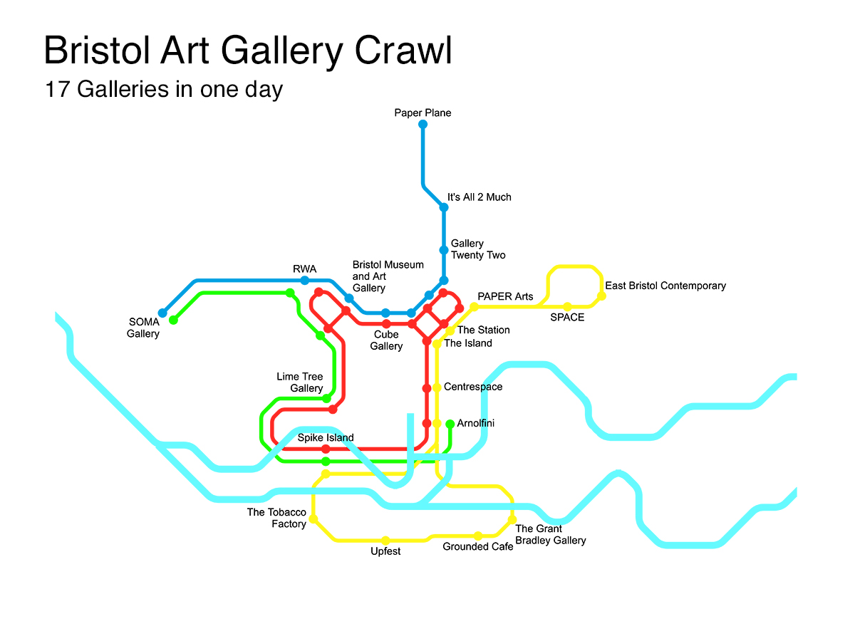 Art Gallery Crawl Map