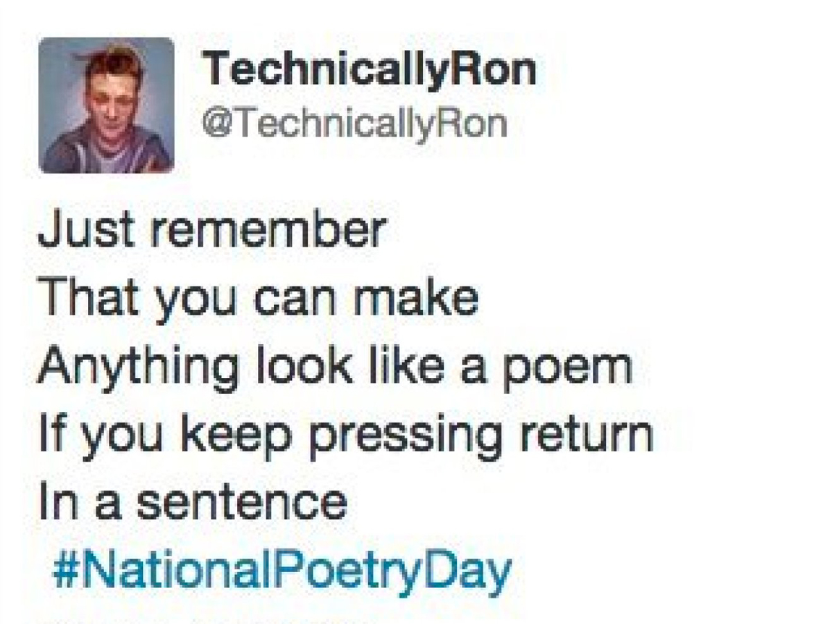 Eight Tweets That Are Really Poetry Rife Magazine