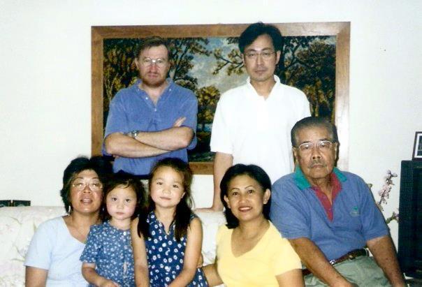 Some of the clan at my Kong Kong's house, Kuala Lumpur, circa 2000
