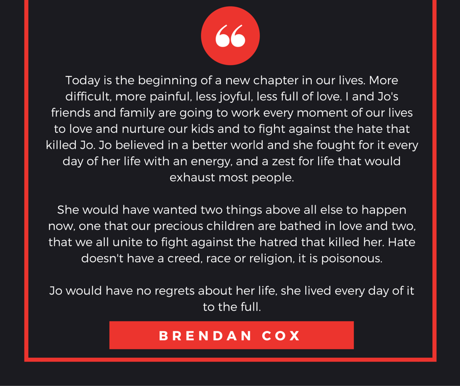 Brendan Cox statement