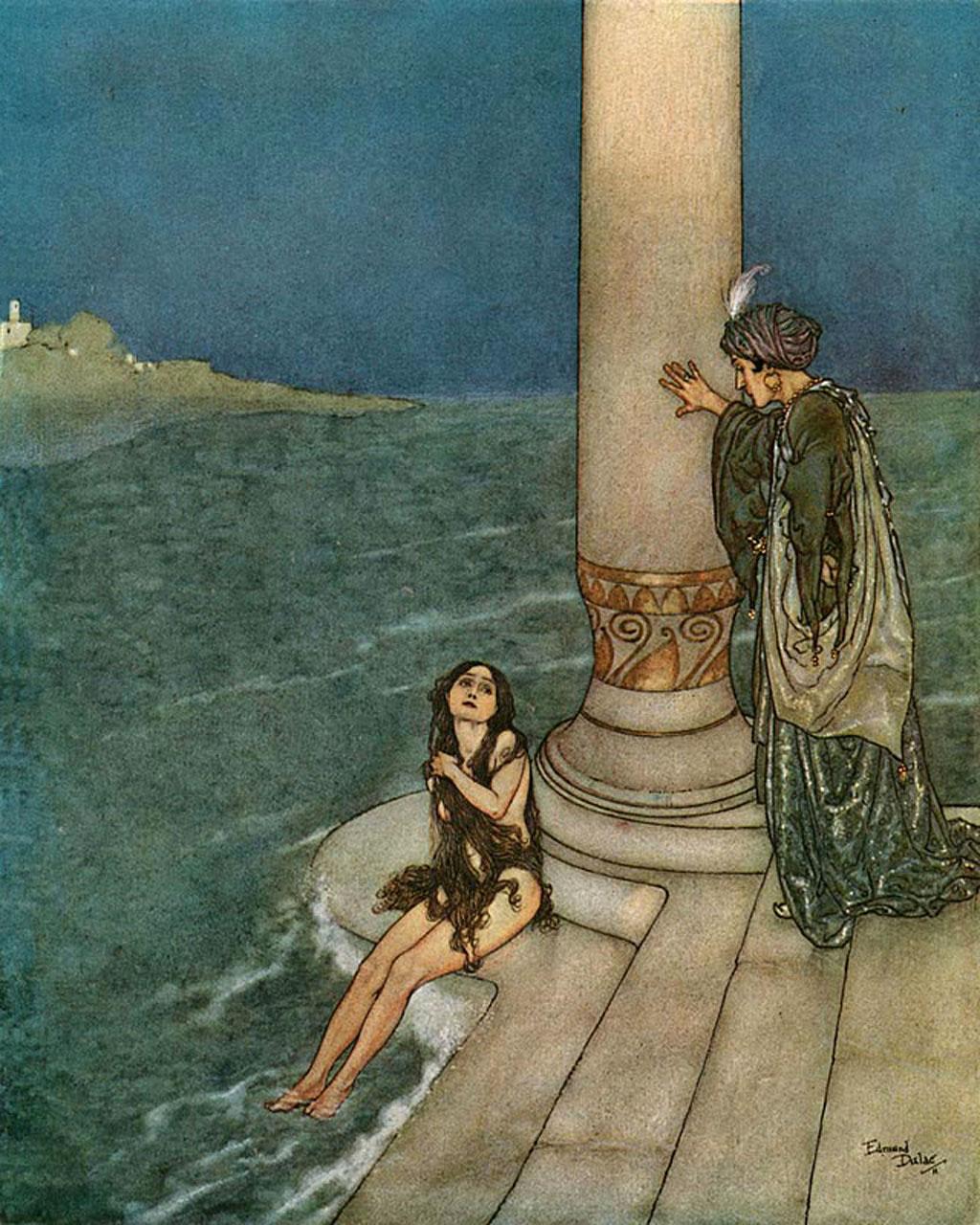 The Little Mermaid, Edmund Dulac illustration