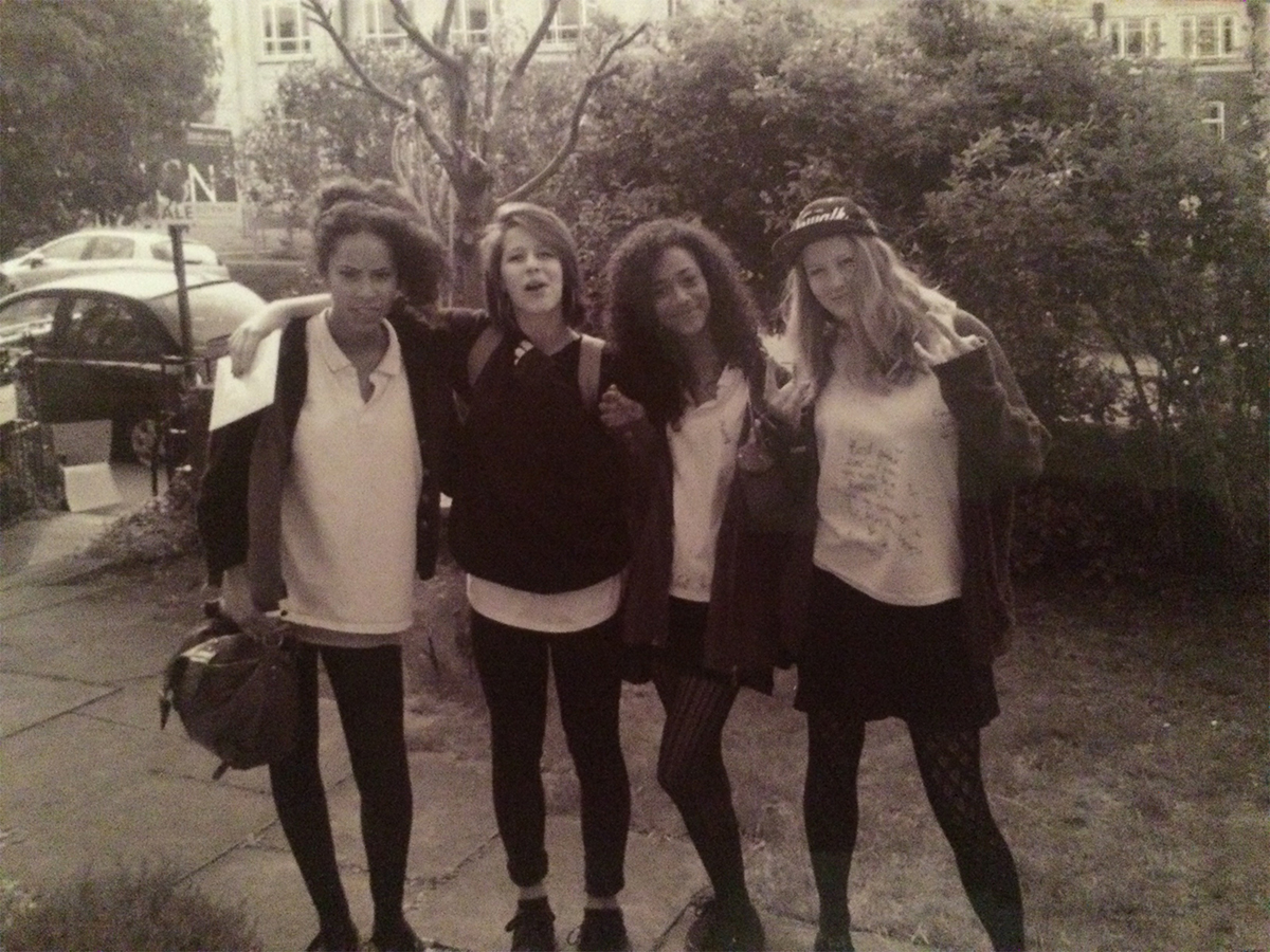 Them ones when your scowling because you realise your not a teenager anymore... with Csenge, Tania and Molly