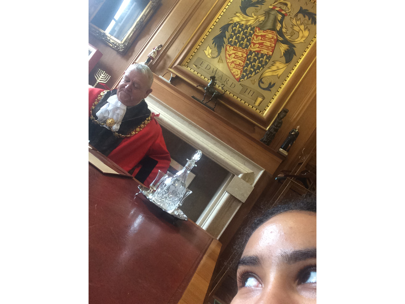 sneaky selfie with lord mayor