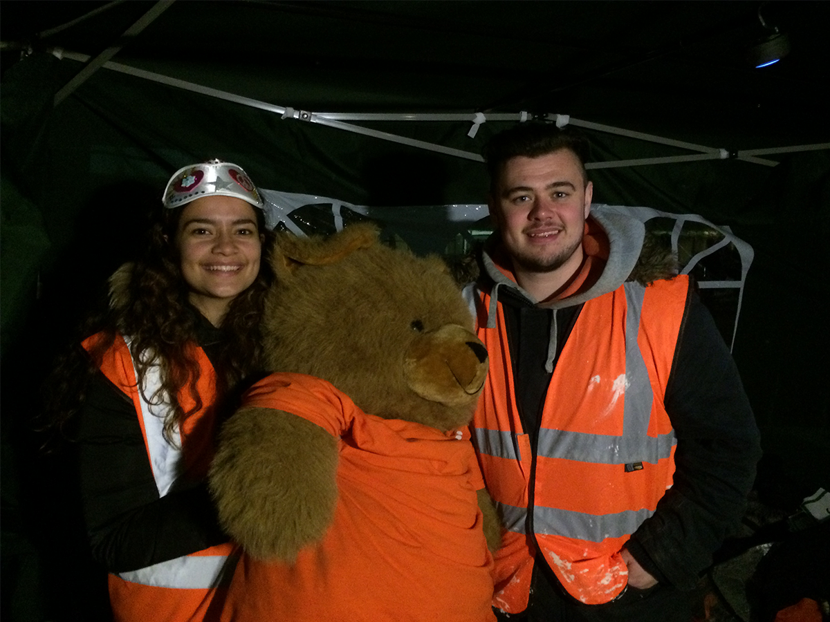 The team at the Brizzz Sleep Out last month