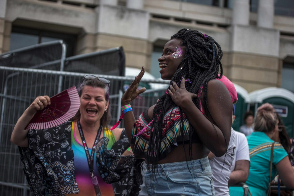 These two ladies, along with everyone had a great time dancing.